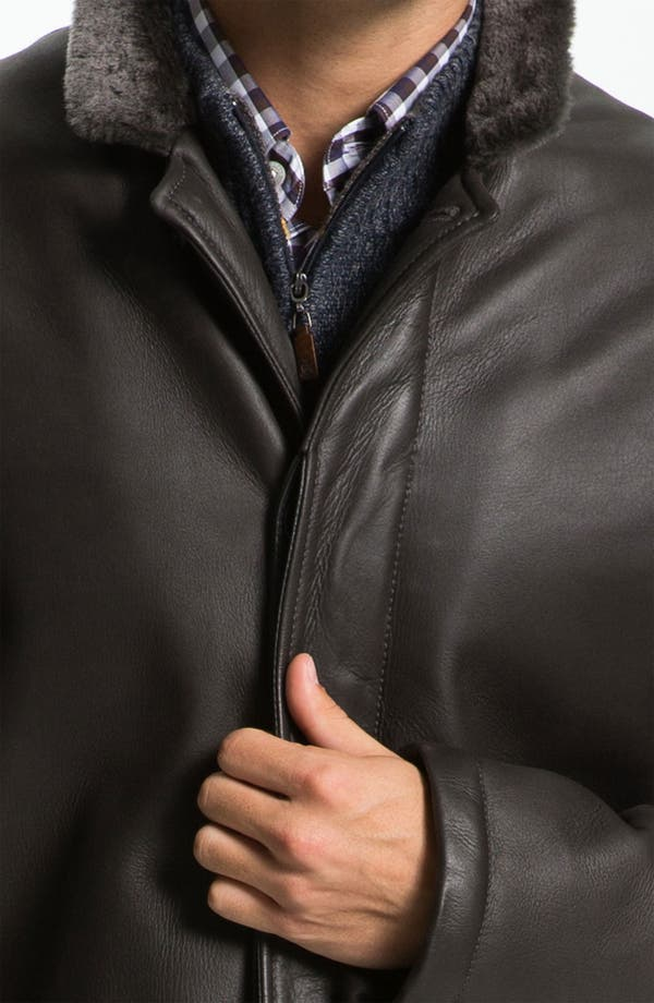 Alternate Image 3  - Canali Shearling-Lined Leather Coat