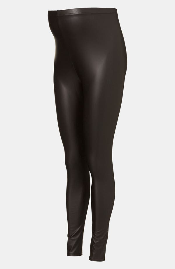 Main Image - Topshop Faux Leather Maternity Leggings