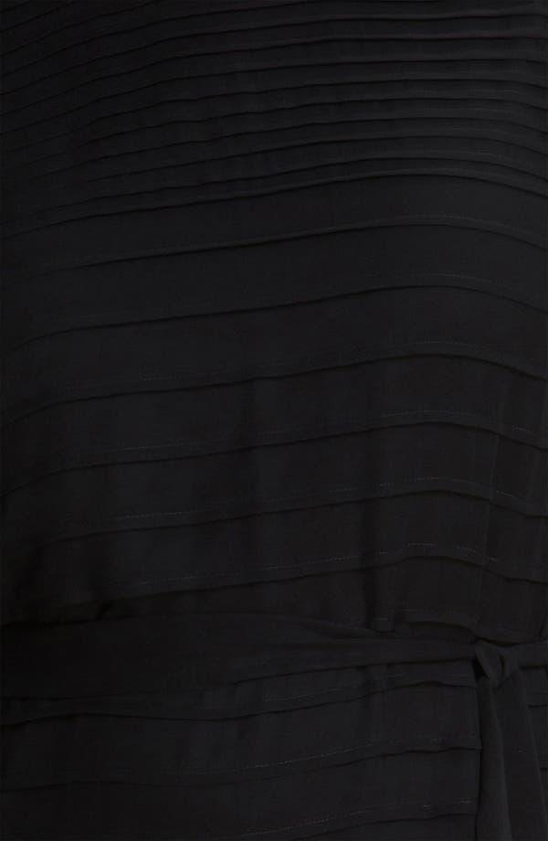 Alternate Image 3  - Calvin Klein Belted Pintuck Chiffon Dress (Plus)