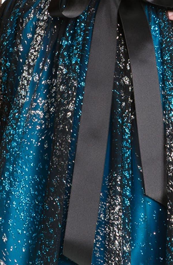 Alternate Image 3  - Jessica McClintock Glittered Mesh Fit & Flare Dress