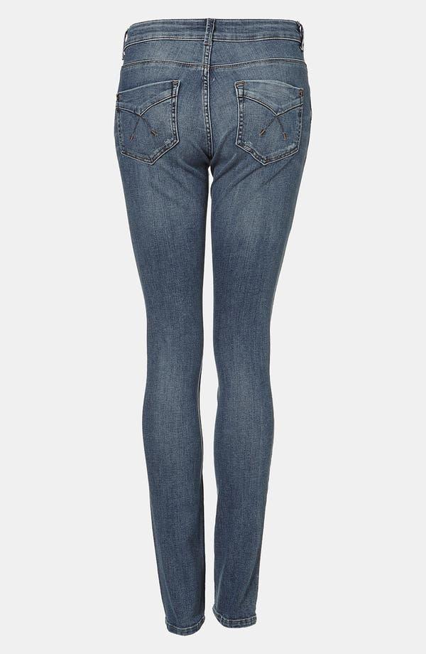 Alternate Image 2  - Topshop Moto 'Baxter' Skinny Jeans (Midstone)