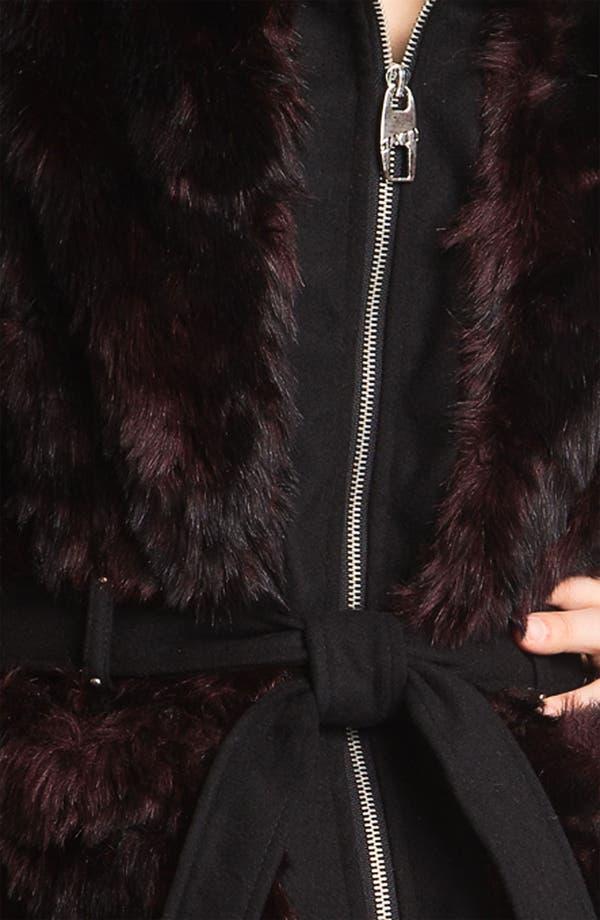 Alternate Image 3  - Miss Sixty Belted Faux Fur Vest