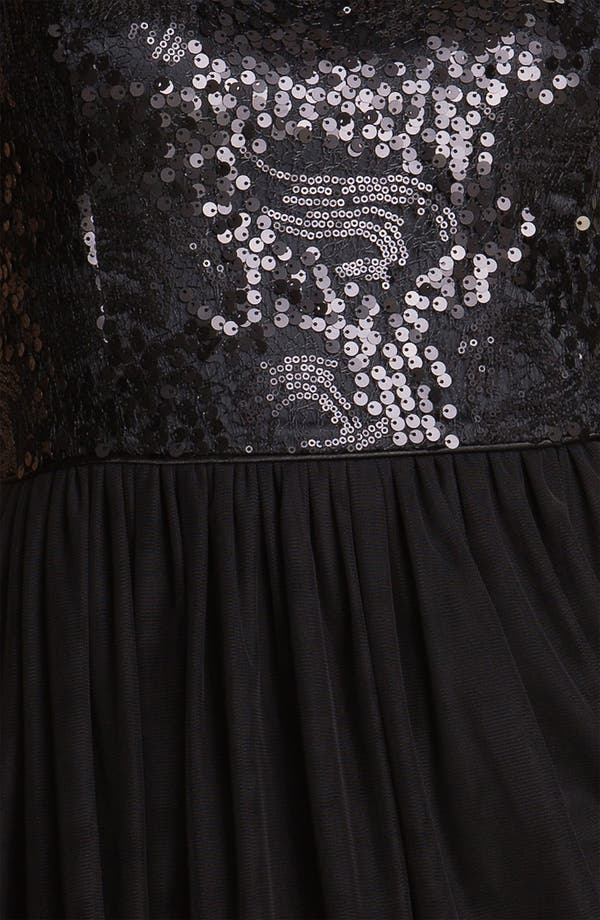Alternate Image 3  - Maggy London Sequin Bodice Fit & Flare Dress
