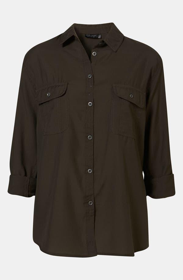 Main Image - Topshop Military Shirt