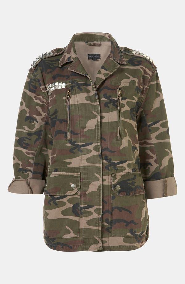 Alternate Image 1 Selected - Topshop Studded Camo Jacket
