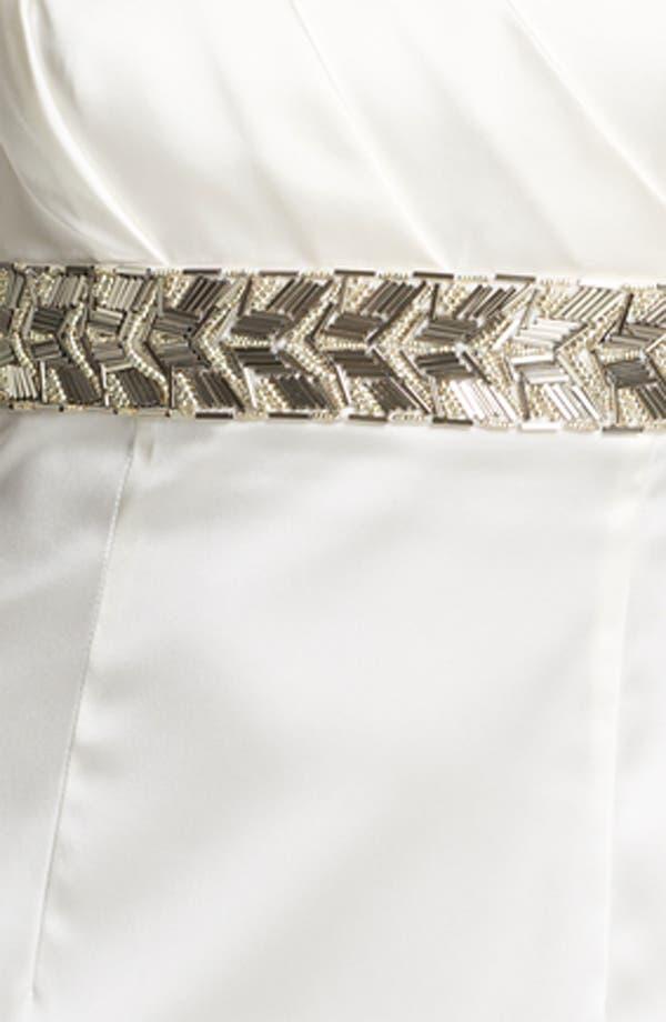 Alternate Image 3  - Calvin Klein Beaded Waist Satin Sheath Dress