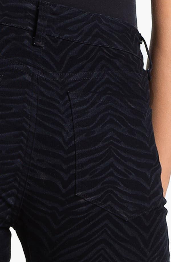Alternate Image 3  - NYDJ 'Sheri - Zebra' Print Twill Skinny Jeans