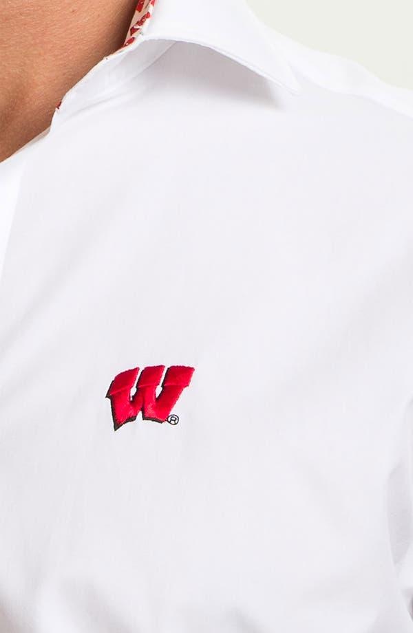 Alternate Image 3  - Thomas Dean 'University of Wisconsin' Regular Fit Sport Shirt