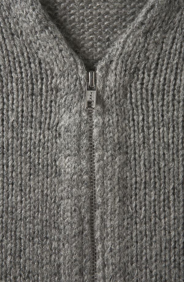 Alternate Image 3  - Topshop 'Lulu' Zip Cardigan (Petite)
