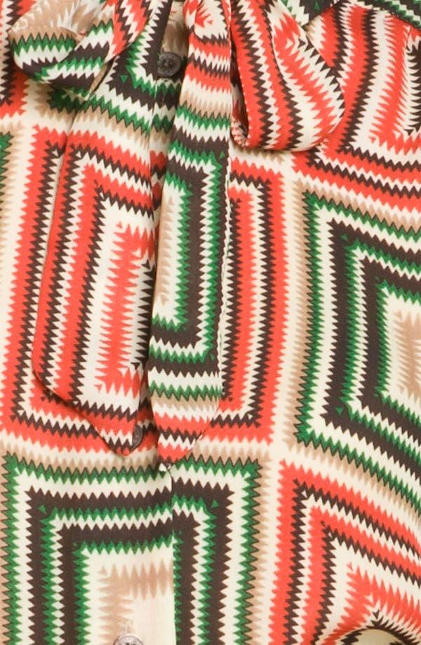 Alternate Image 3  - Vince Camuto Print Tie Neck Top (Petite)