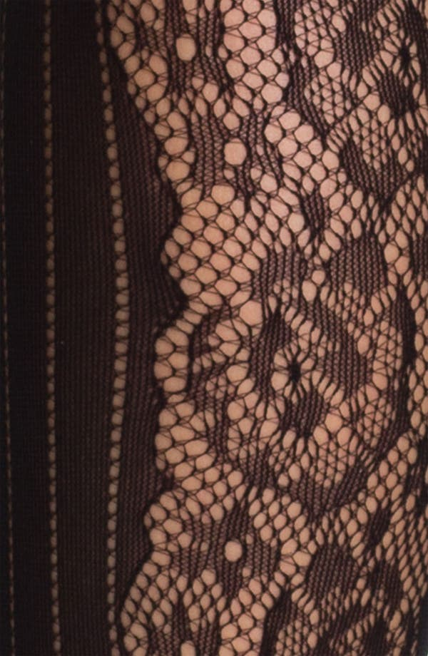 Alternate Image 3  - DKNY Pinstripe & Lace Tights