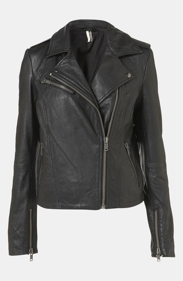 Alternate Image 1 Selected - Topshop 'Winston' Leather Biker Jacket