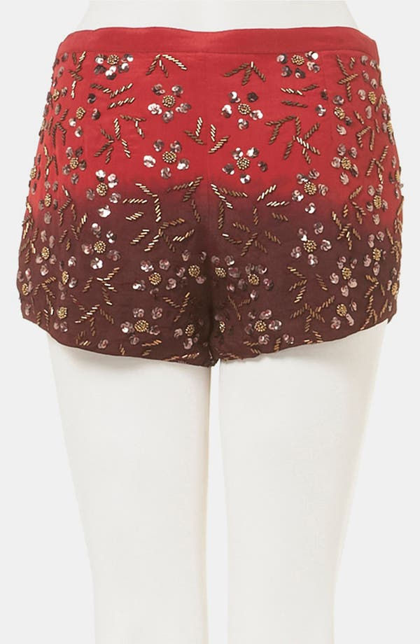 Alternate Image 2  - Topshop Dip Dye Embellished Shorts