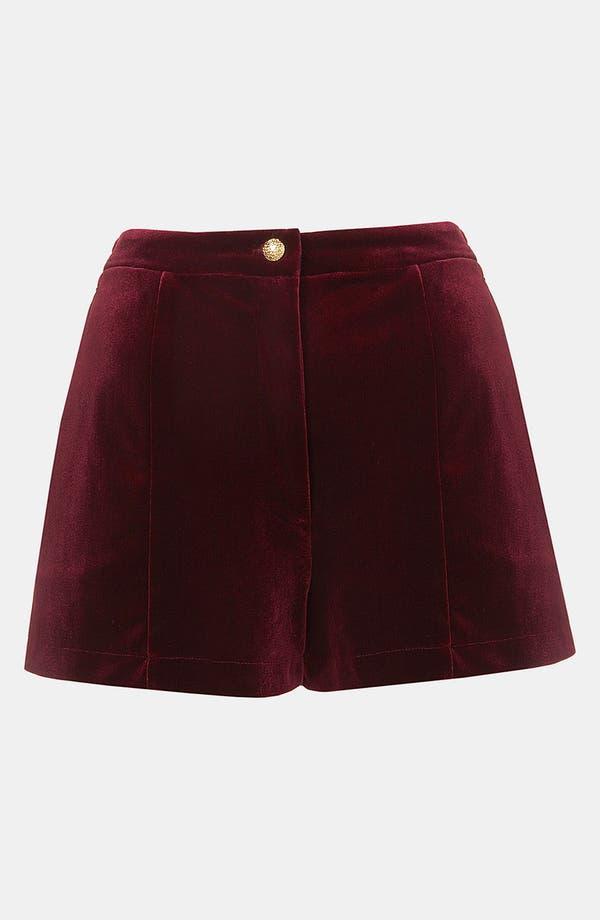 Alternate Image 1 Selected - Topshop Velvet Shorts