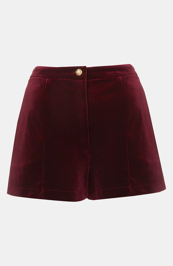 Main Image - Topshop Velvet Shorts