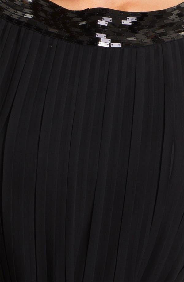 Alternate Image 3  - Calvin Klein Sequin Neck Pleated Chiffon Dress