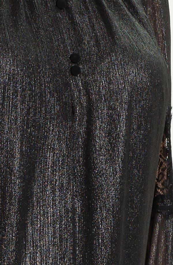 Alternate Image 4  - Evans 'Kimmy' Metallic Blouse (Plus Size)