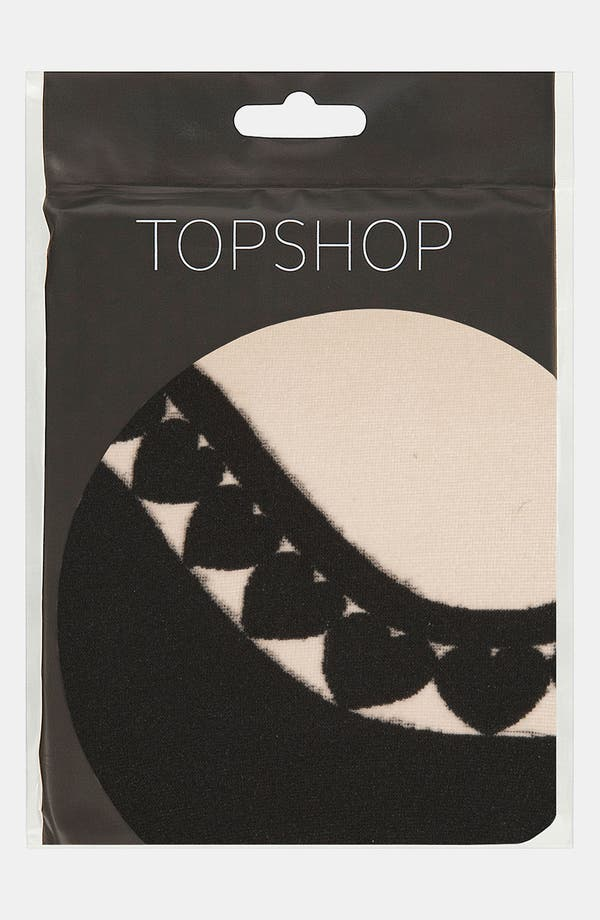 Alternate Image 2  - Topshop 'Curved Heart' Tights