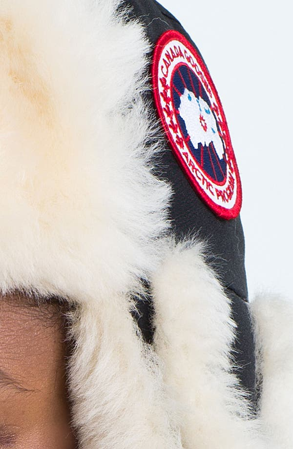 Alternate Image 3  - Canada Goose Genuine Shearling Pilot Hat