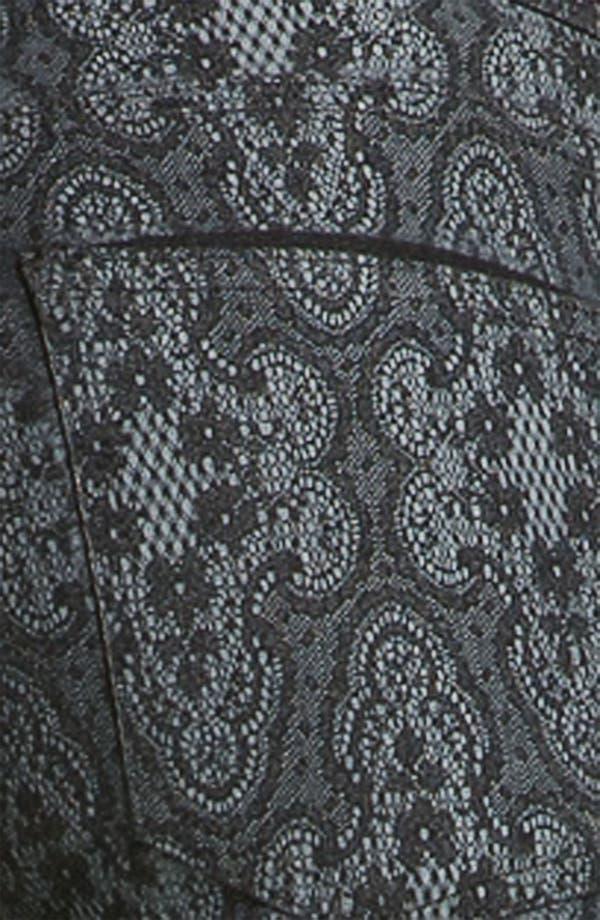 Alternate Image 3  - Current/Elliott Print Stretch Skinny Jeans (Black Antique)