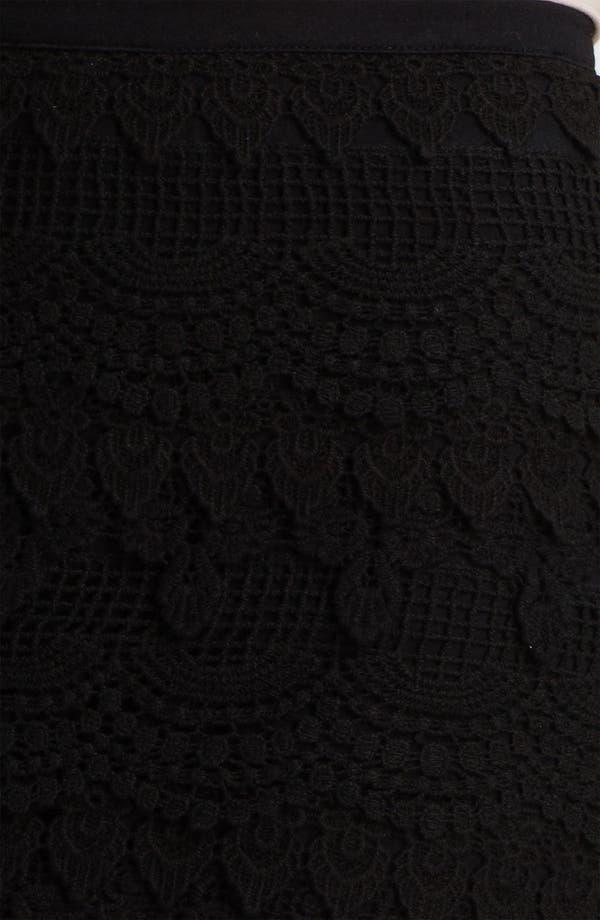 Alternate Image 3  - Lush Banded Crochet Skirt (Juniors)