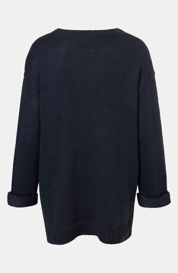 Alternate Image 2  - Topshop Zip Hem Sweater