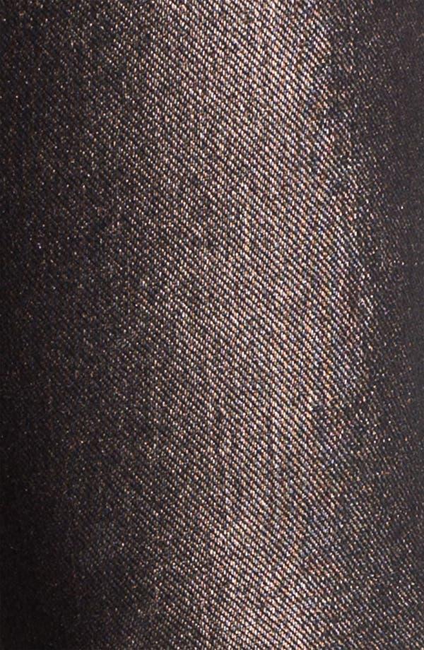 Alternate Image 2  - Hue Foil Print Jeans Leggings