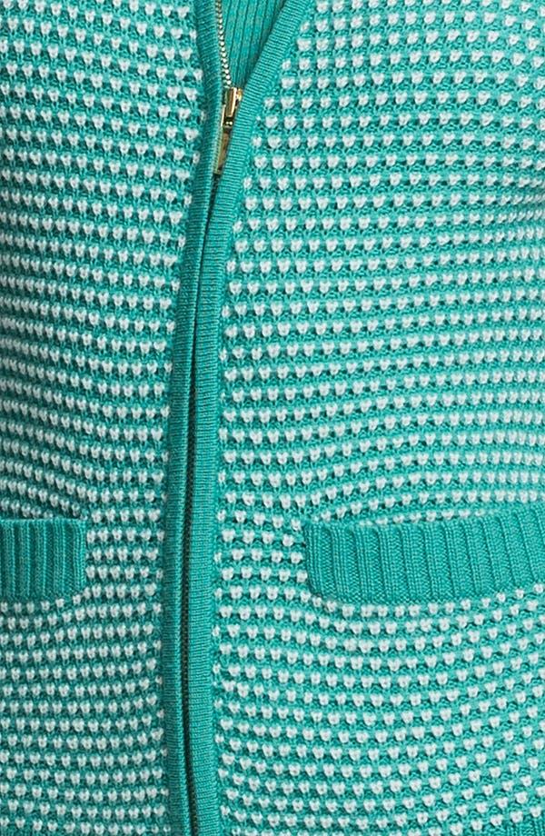 Alternate Image 5  - St. John Yellow Label Popcorn Knit Bomber Jacket