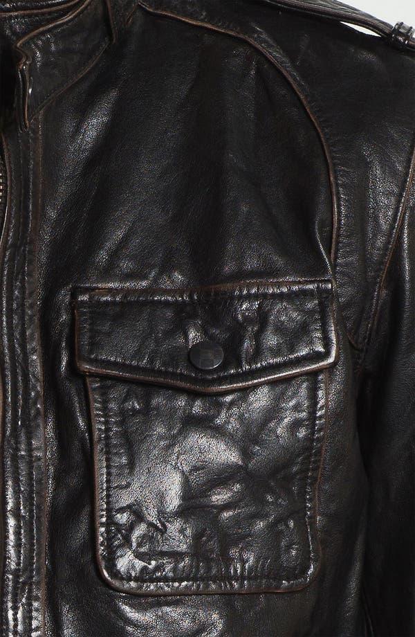 Alternate Image 3  - Vince Camuto Leather Utility Jacket