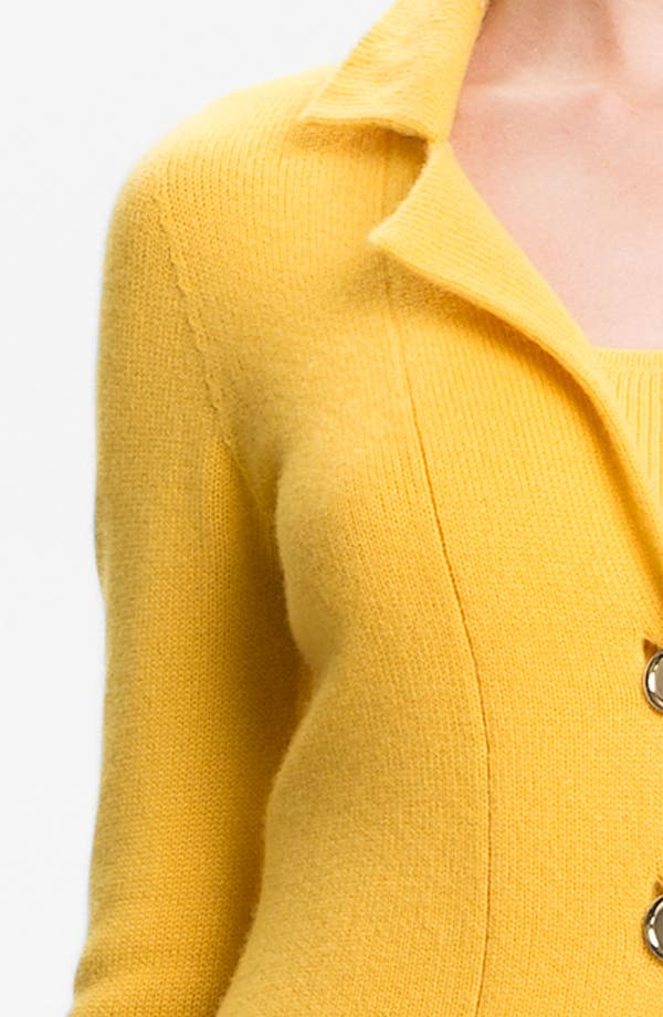 Alternate Image 5  - St. John Collection Fitted Cashmere Knit Jacket