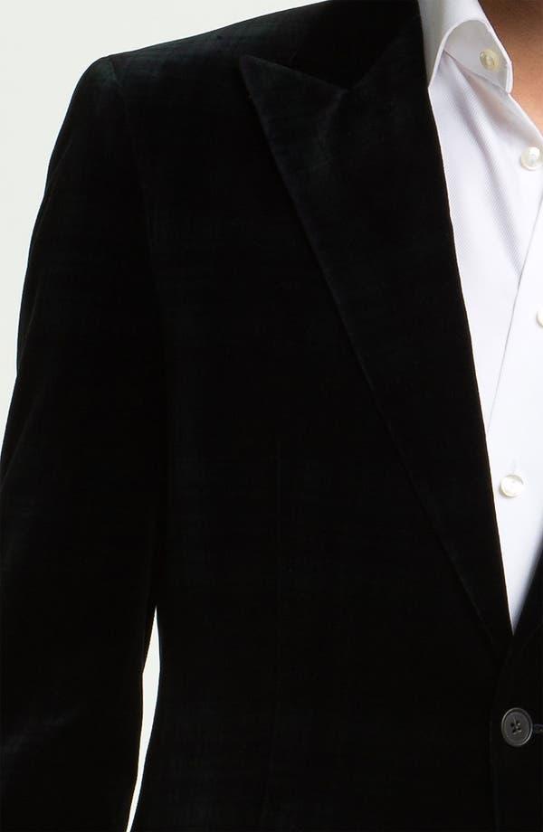 Alternate Image 3  - Joseph Abboud Plaid Velvet Blazer