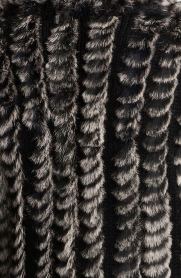 Alternate Image 3  - Alberto Makali Knit & Genuine Rabbit Fur Vest