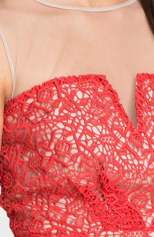 Alternate Image 3  - ALICE by Temperley 'Alberto' Illusion Yoke Crochet Dress