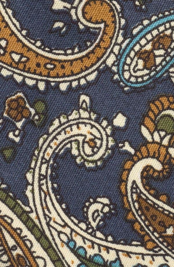 Alternate Image 2  - Topman Paisley Print Woven Cotton Tie
