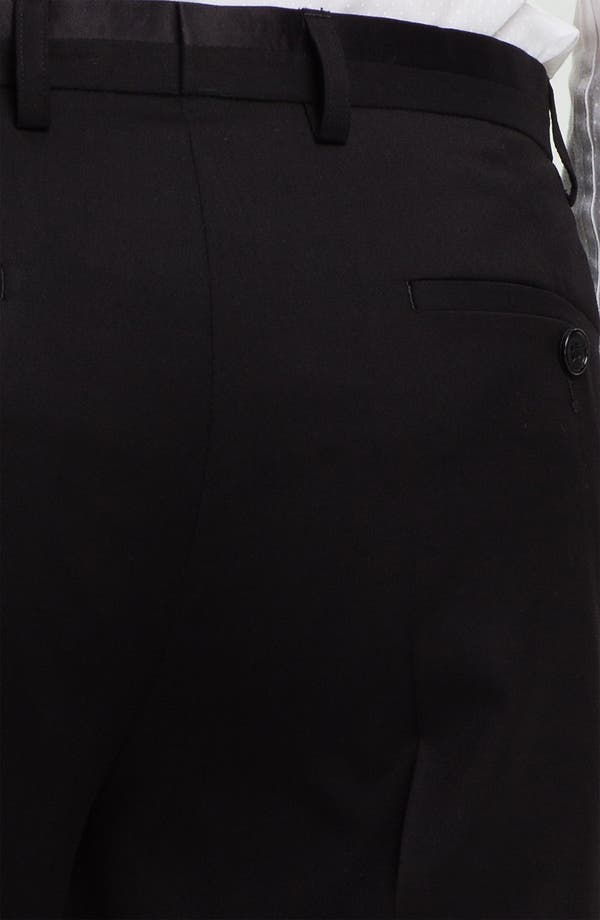 Alternate Image 3  - Topman Black Satin Trim Trousers