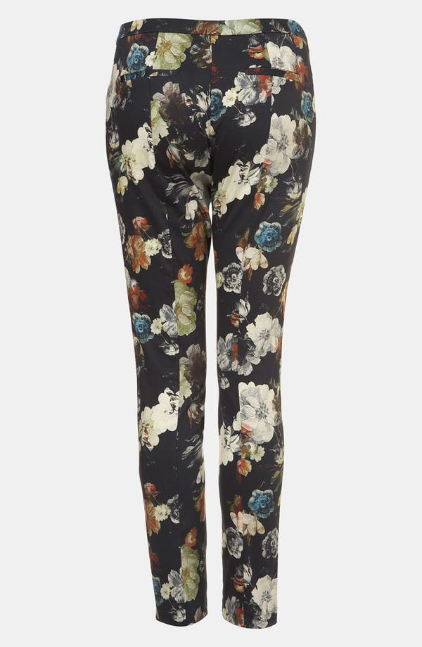Alternate Image 2  - Topshop Print Skinny Pants