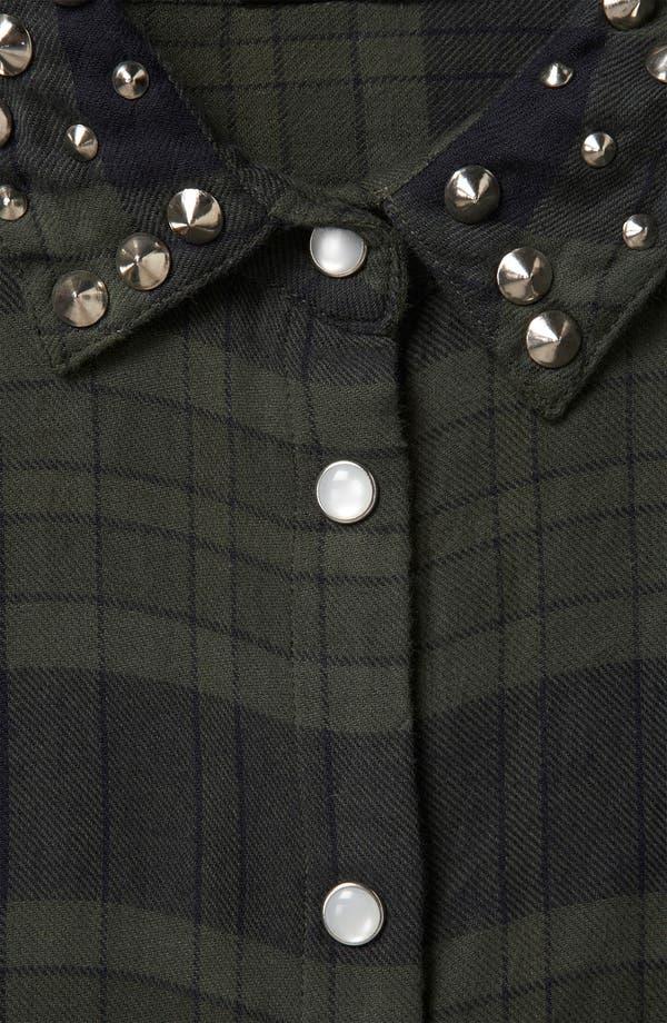 Alternate Image 3  - Topshop Stud Collar Plaid Shirt