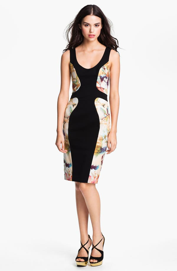 Alternate Image 1 Selected - Black Halo 'Annabella' Contoured Colorblock Sheath Dress