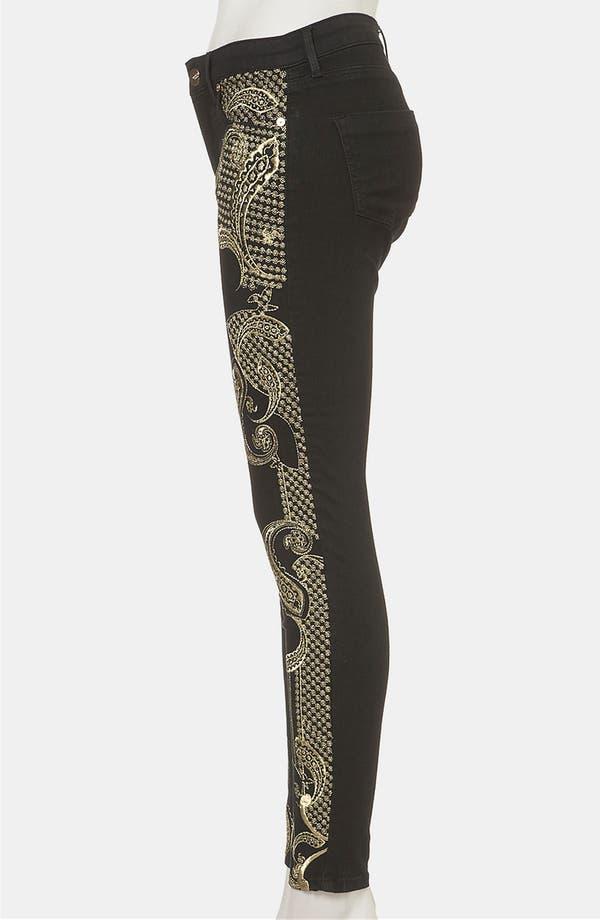 Alternate Image 4  - Topshop 'Antonio' Embroidered Skinny Jeans