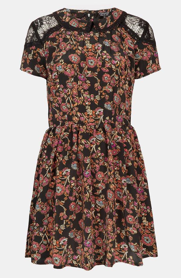 Alternate Image 1 Selected - Topshop 'Sketch' Floral Lace Dress