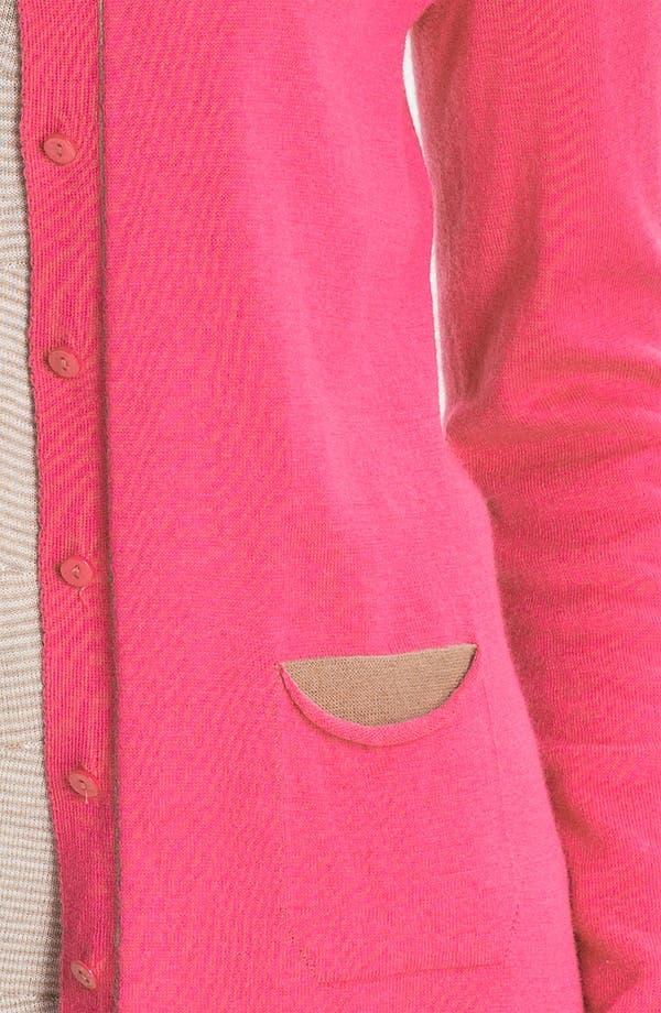 Alternate Image 3  - Nic + Zoe Tipped Scoop Neck Cardigan (Petite)