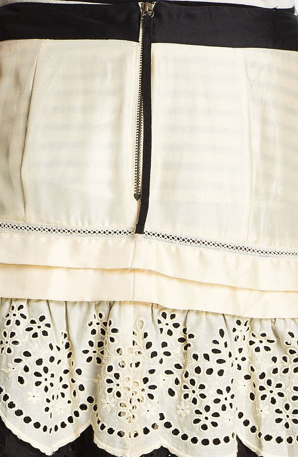 Alternate Image 3  - Skaist-Taylor Eyelet Ruffle Silk Skirt