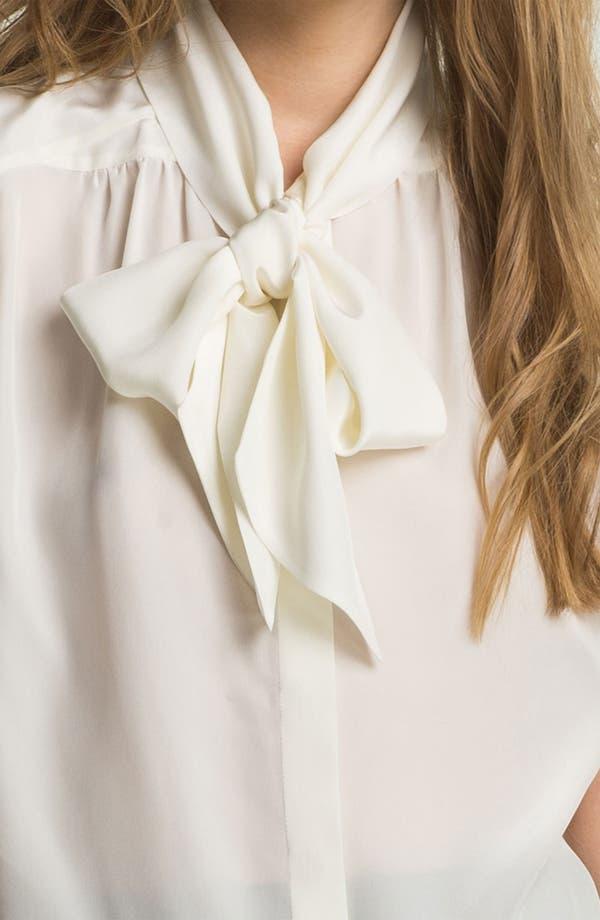 Alternate Image 5  - Miss Wu Tie Neck Crêpe de Chine Blouse (Nordstrom Exclusive)