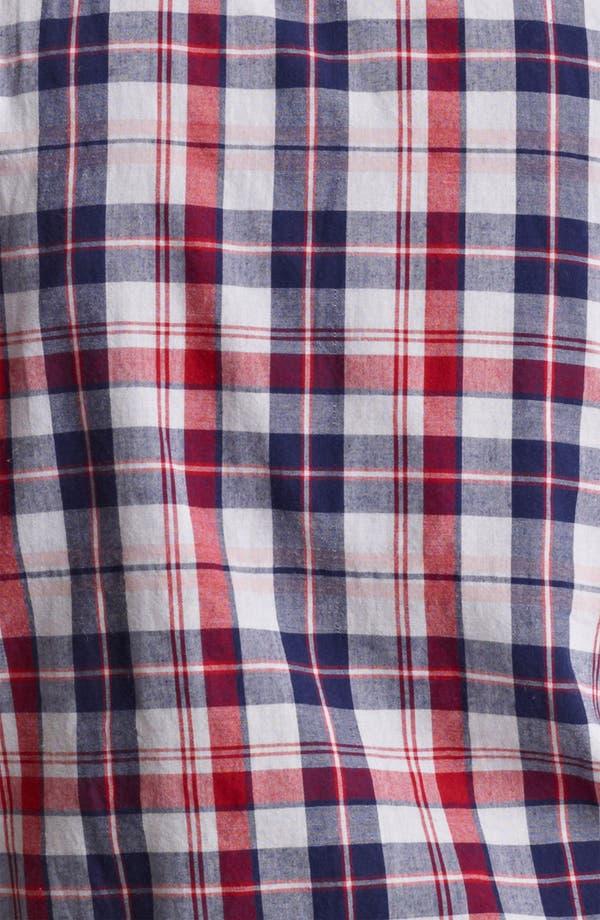 Alternate Image 3  - Save Khaki Madras Plaid Cotton Shirt