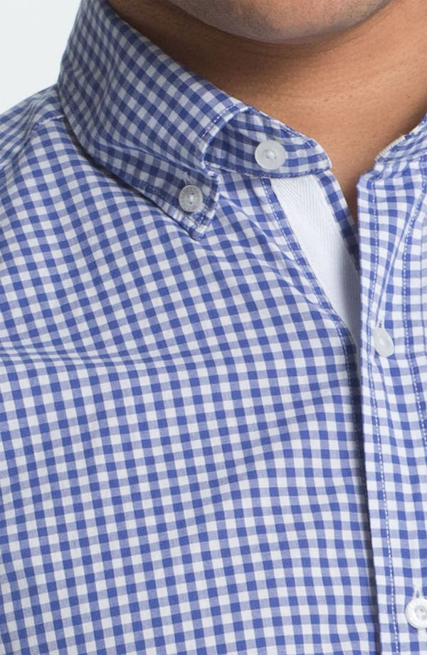Alternate Image 3  - Lacoste Short Sleeve Button Down Shirt (Big)