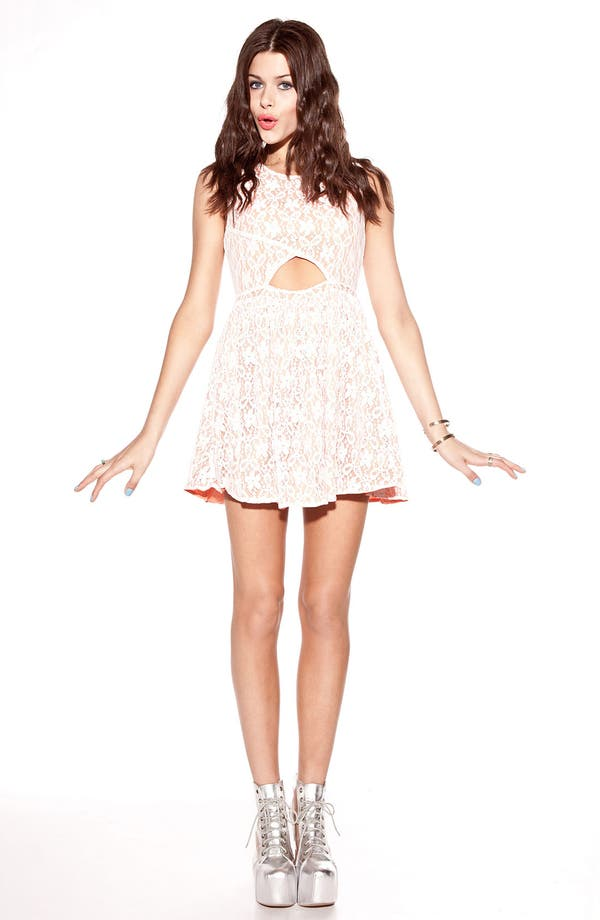 Alternate Image 2  - MINKPINK 'Fanciful' Fit & Flare Lace Overlay Dress