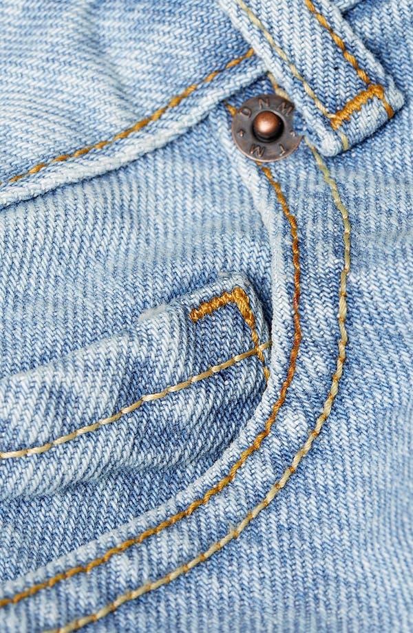 Alternate Image 5  - Topman Skinny Fit Denim Shorts