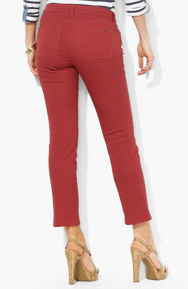 Alternate Image 2  - Lauren Ralph Lauren Modern Straight Leg Ankle Pants (Petite) (Online Only)