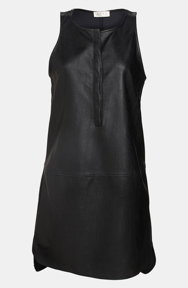 Main Image - ASTR Faux Leather High/Low Tank Dress