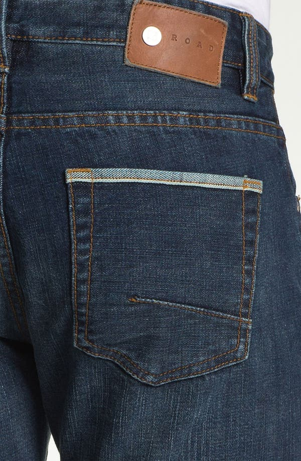 Alternate Image 4  - ROAD 'Selvedge' Straight Fit Jeans (Dark Wash)